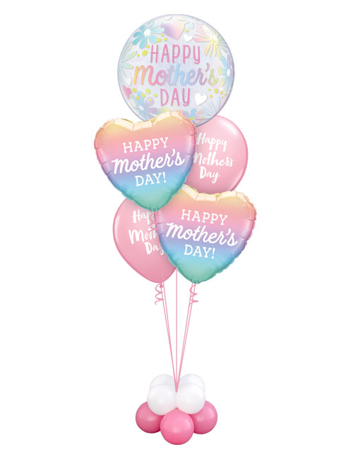 Mothers Day Floral Bubble Staggered