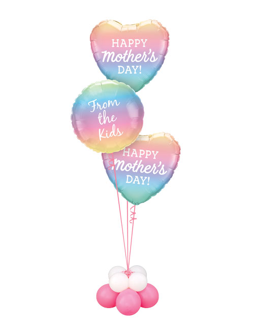 Mothers Day Ombre Triplet Balloon Bouquet