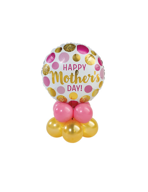 Mothers Day Pink and Gold Spots Stack