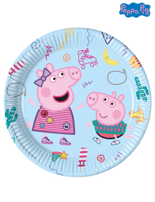 23cm Peppa Pig Party Plates