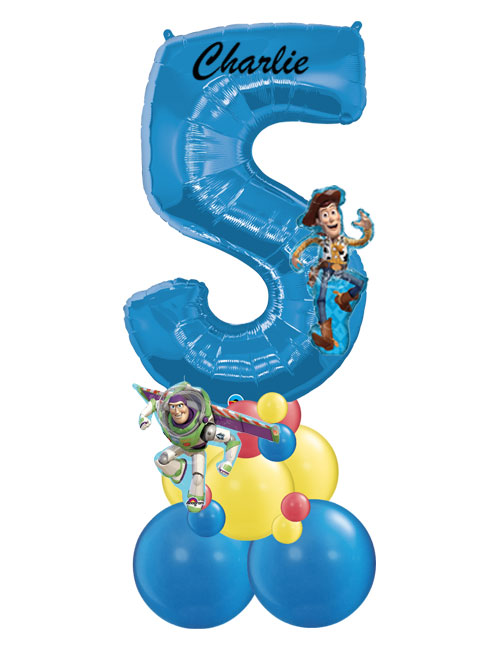 Blue Stack Number 5 Toy Story