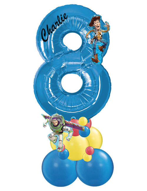 Blue Stack Number 8 Toy Story