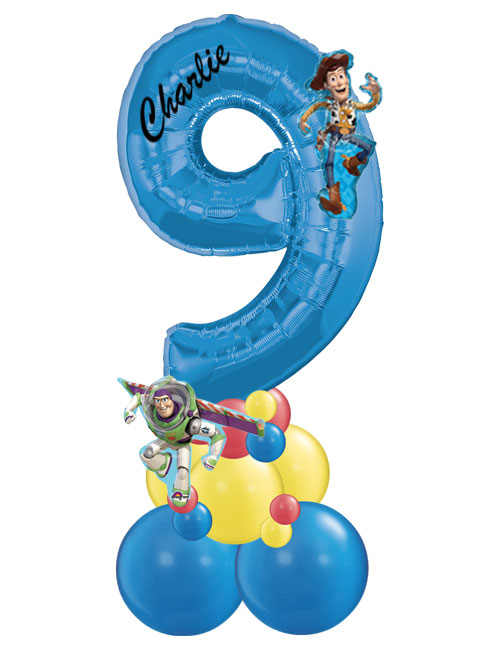 Blue Stack Number 9 Toy Story
