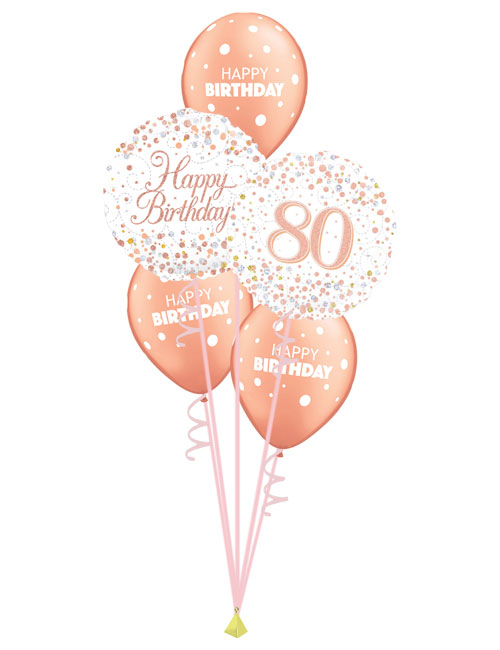Rose Gold 80th Birthday Bouquet