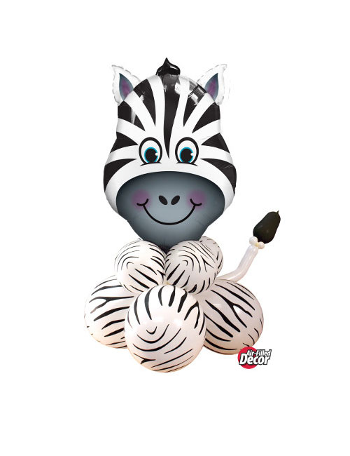 Air filled Zebra balloon display