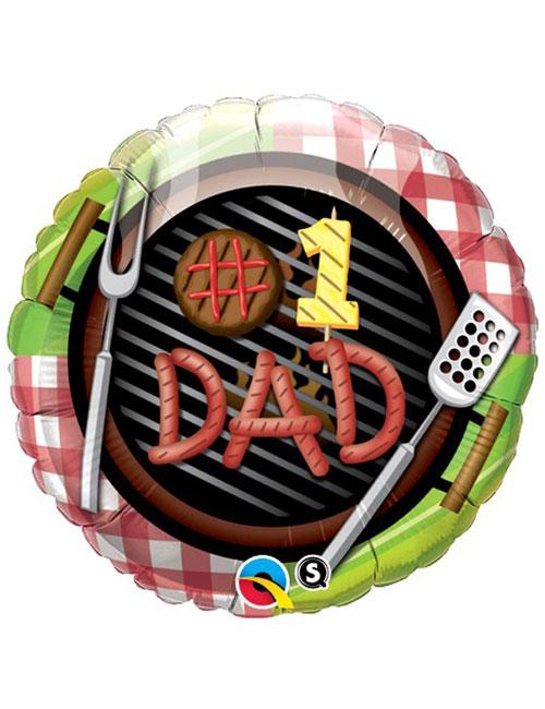 No1 Dad Grill Balloon