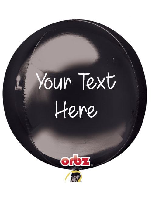 Personalised Orbz Black